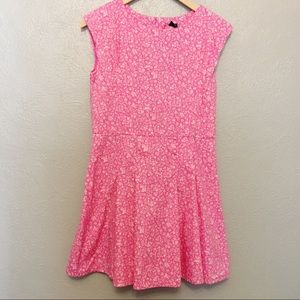 Gap Kids Pink White Floral 100% Cotton Dress